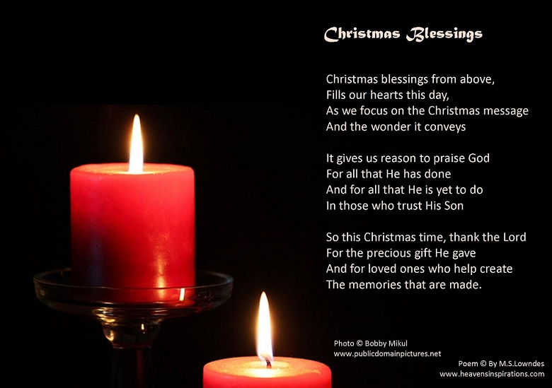 Christmas Blessing Poem.Christian Picture Poems Special Occasion Poetry With Picture